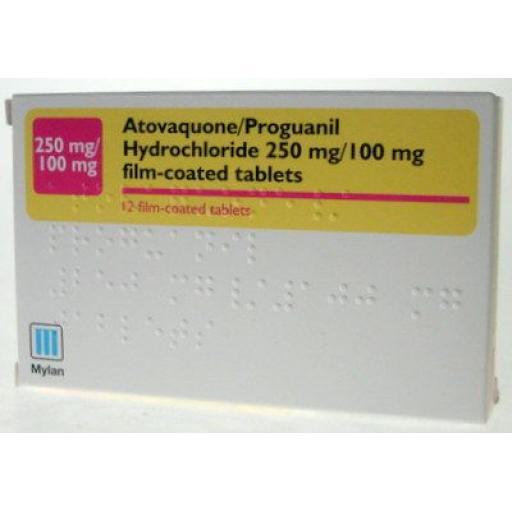 Atovaquone/Proguanil Hydrochloride 1x 250mg/100mg Tablet