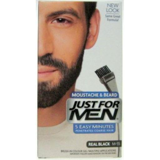 Just For Men Moustache & Beard - M-55 Real Black
