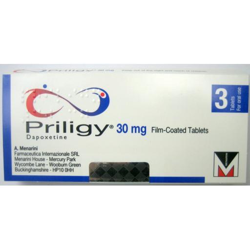 Priligy (dapoxetine) 30mg - [POM] - 3 Tablets