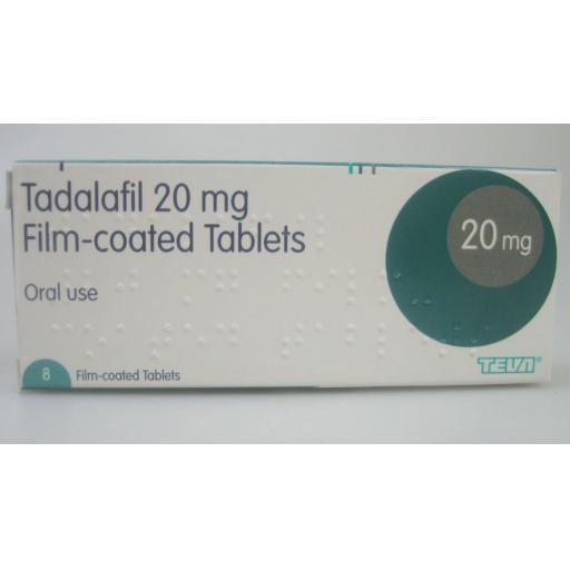 Tadalafil 8 x 20mg Tablets