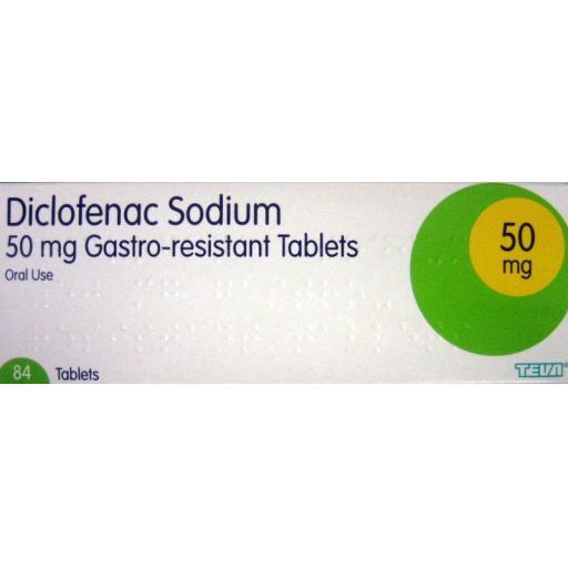 Diclofenac Sodium 84 x 50mg Tablets