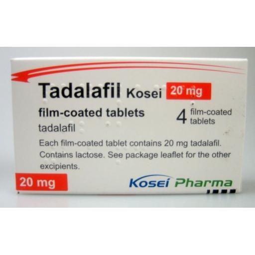 Tadalafil 4 x 20mg Tablets