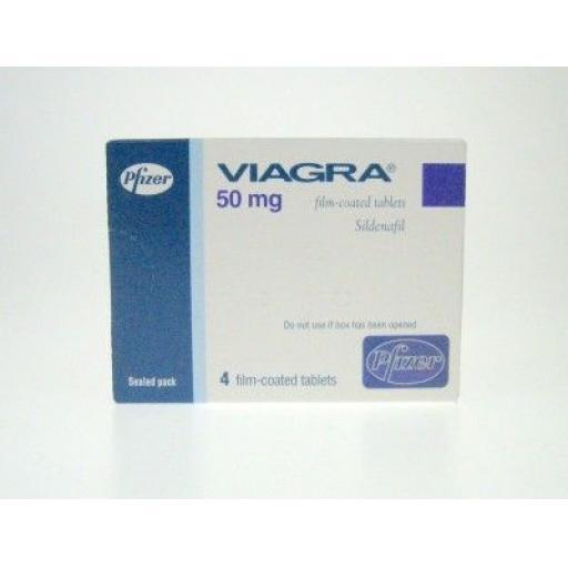 Viagra (sildenafil) 50mg [POM] - 4 tablets - UK Sourced