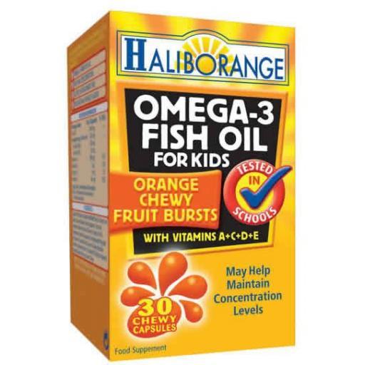 Haliborange Omega 3 Fish Oils 30 Chewy Capsules