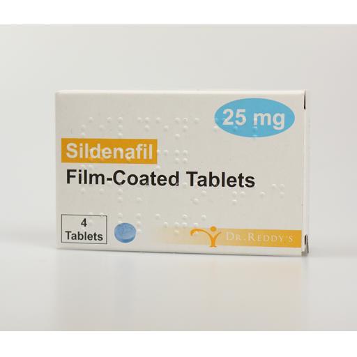 Sildenafil 4 x 25mg Tablets
