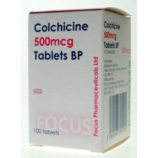 Colchicine 100 x 500mcg Tablets
