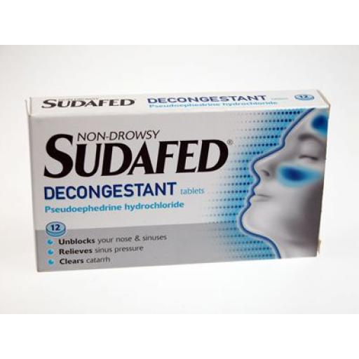 Sudafed Non-Drowsy Decongestant Tablets 12
