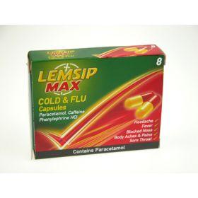 Lemsip Max Cold & Flu Capsules 8 Capsules
